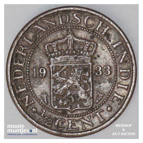 Nederlands-Indië - ½ cent - 1933 druiventros (kant A)