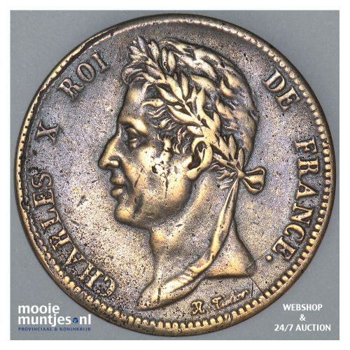 10 centimes - French Colonies 1828 (KM 11.1) (kant B)