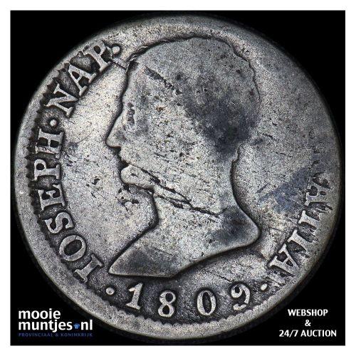 4 reales - de vellon coinage - Spain 1809 (KM 540.1) (kant A)