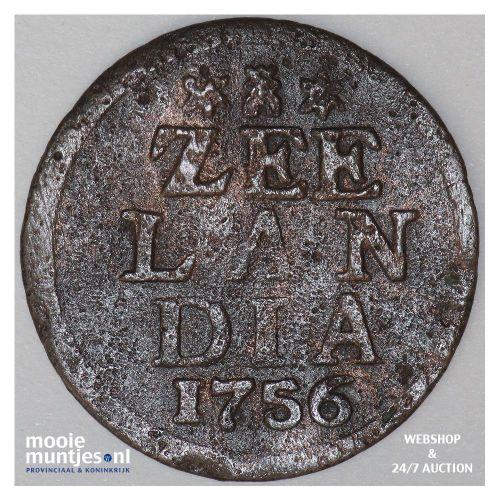 Zeeland - Duit - 1756 (kant A)