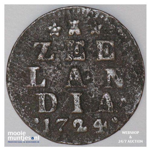 Zeeland - Duit - 1724 (kant A)