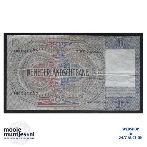 10 gulden  - 1940 (Mev. 42-2 / AV 31) (kant B)