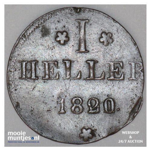 heller - German States/Frankfurt am Main 1820 over 02 MPO (KM 301) (kant A)