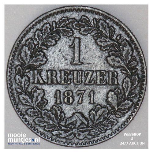 kreuzer - German States/Baden 1871 (KM 242) (kant A)