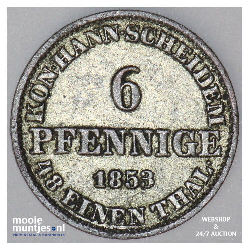 6 pfennig - German States/Hannover 1853 (KM 218) (kant A)