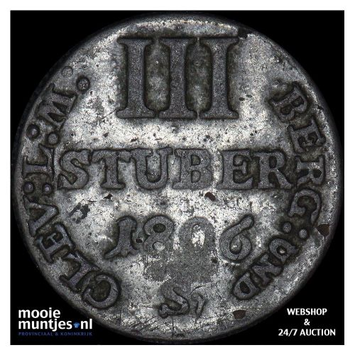 3 stuber - grand duchy - German States/Berg 1806 Sr (KM 10) (kant A)