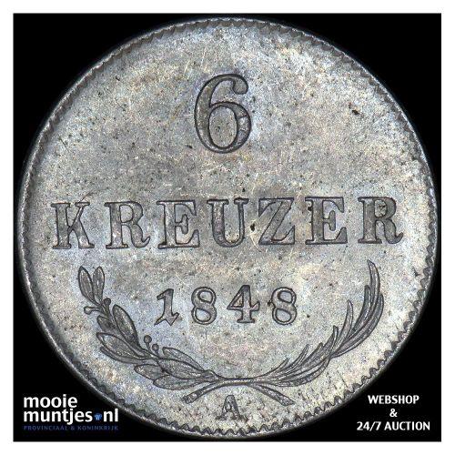 6 kreuzer - Austria 1848 A (KM 2199) (kant A)