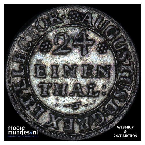 1/24 thaler (groschen) - German States/Saxony-Albertine 1709 (KM 764) (kant B)