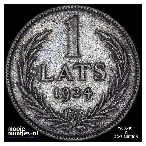 lats - first republic - Latvia 1924 (KM 7) (kant A)