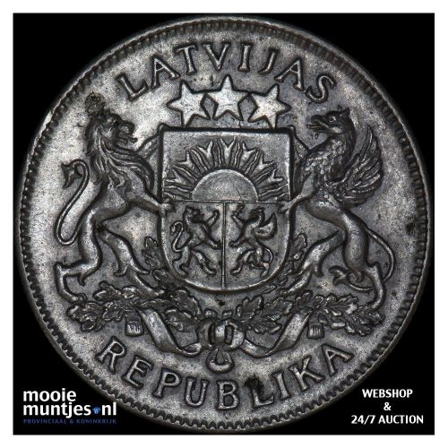 2 lati - first republic - Latvia 1925 (KM 8) (kant B)