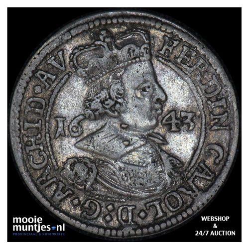 3 kreuzer - Austria 1643 (KM 852) (kant A)