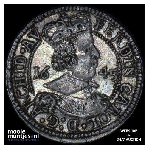 3 kreuzer - Austria 1645 (KM 852) (kant A)