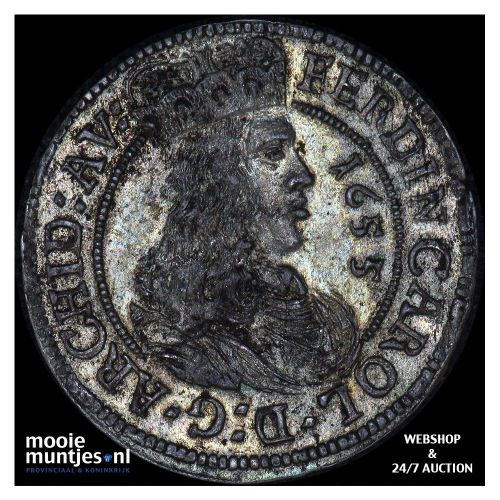 3 kreuzer - Austria 1655 (KM 852) (kant A)