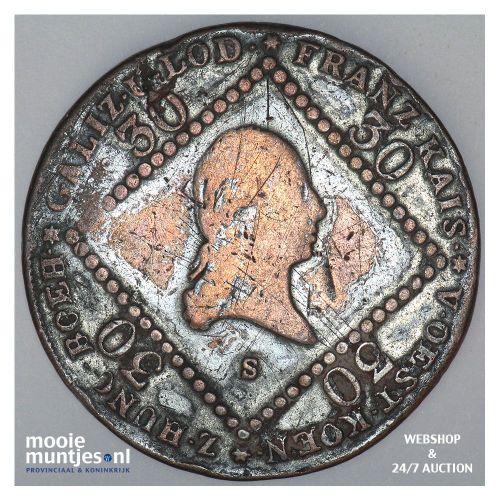 30 kreuzer - Austria 1807 S (KM 2149) (kant B)