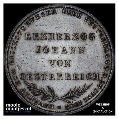 2 gulden - German States/Frankfurt am Main 1848 proof (KM 338) (kant A)