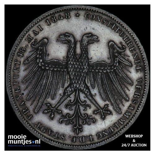 2 gulden - German States/Frankfurt am Main 1848 proof (KM 338) (kant B)