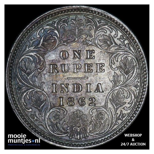 rupee - India-British 1862 (KM 473.1) (kant A)