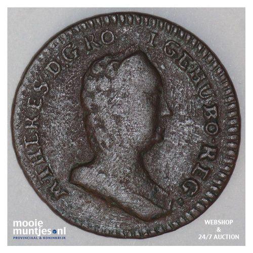 1/2 kreuzer - Austria ND (1760) (KM 1985) (kant B)