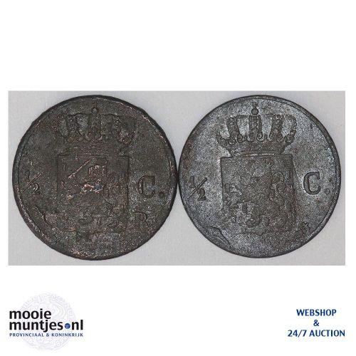 ½ cent - Willem I - 1821 B (kant B)
