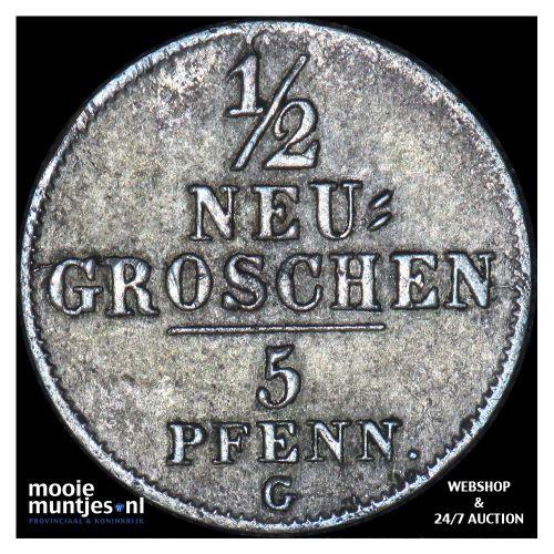 1/2 neu-groschen (5 pfennig) - German States/Saxony-Albertine 1843 (KM 1158) (ka