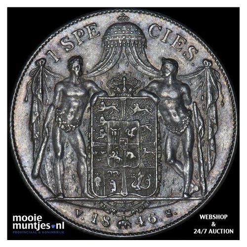 speciedaler - Denmark 1846 (KM 741) (kant A)