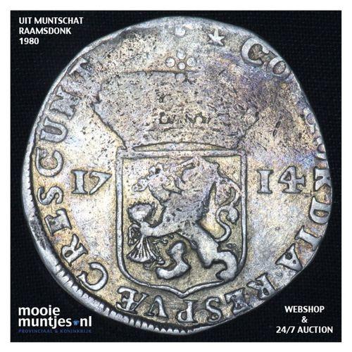 Zeeland - Zilveren dukaat - 1714 (kant A)