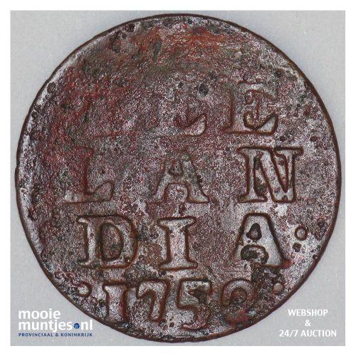 Zeeland - Duit - 1752 (kant A)