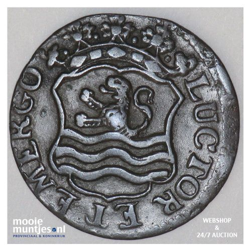 Zeeland - Duit - 1758 over 57 (kant B)