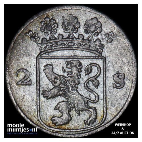 Holland - Dubbele wapenstuiver - 1753 (kant B)