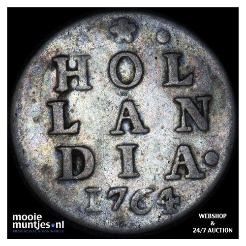 Holland - Dubbele wapenstuiver - 1764 (kant A)