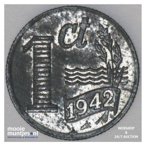1 cent - Wilhelmina - 1942 (kant A)