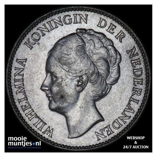 1 gulden - Wilhelmina - 1938 (kant B)
