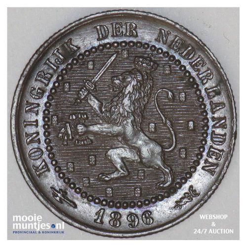 1 cent - Wilhelmina - 1896 (kant A)