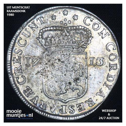 Zeeland - Zilveren dukaat - 1713 (kant A)