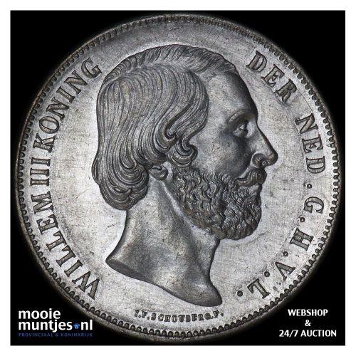2½ gulden - Willem III - 1857 (kant B)