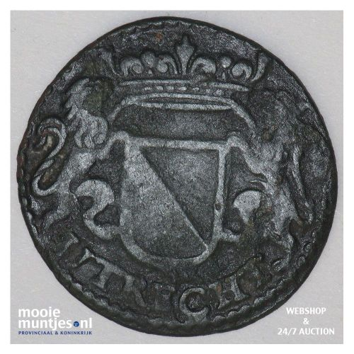 Stad Utrecht - Duit - 1657 (kant B)