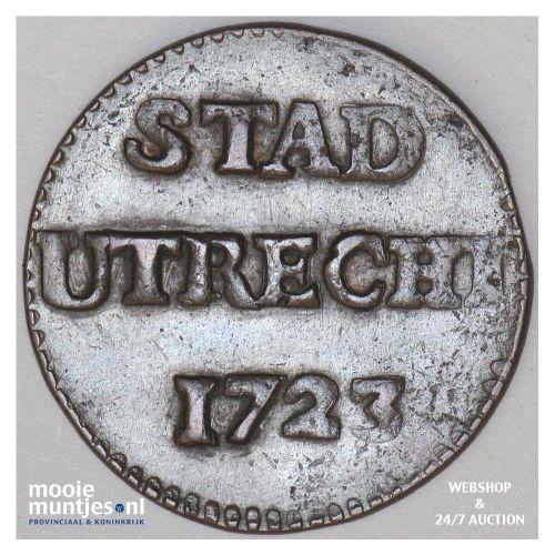 Stad Utrecht - Duit - 1723 (kant A)