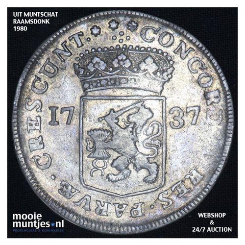 Zeeland - Zilveren dukaat - 1737 (kant A)