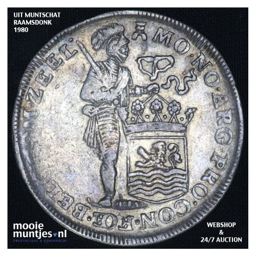 Zeeland - Zilveren dukaat - 1737 (kant B)