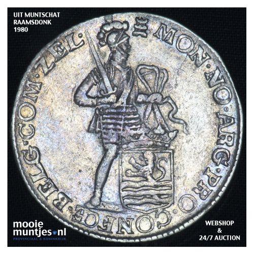 Zeeland - Zilveren dukaat - 1762 (kant B)