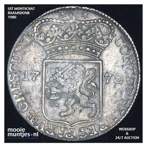 Zeeland - Zilveren dukaat - 1772 (kant A)