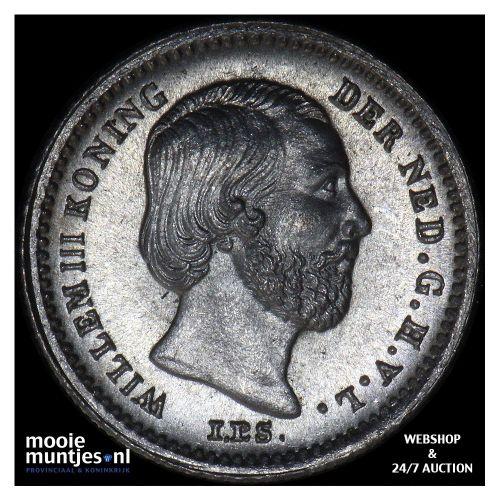 5 cent - Willem III - 1887 (kant B)