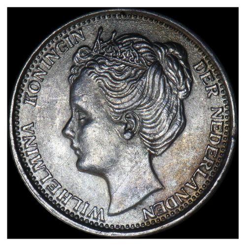 10 cent - Wilhelmina - 1906 (kant B)