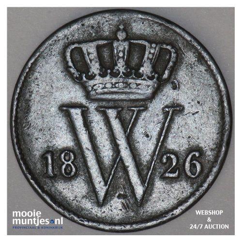 1 cent - Willem I - 1826 Utrecht (kant A)