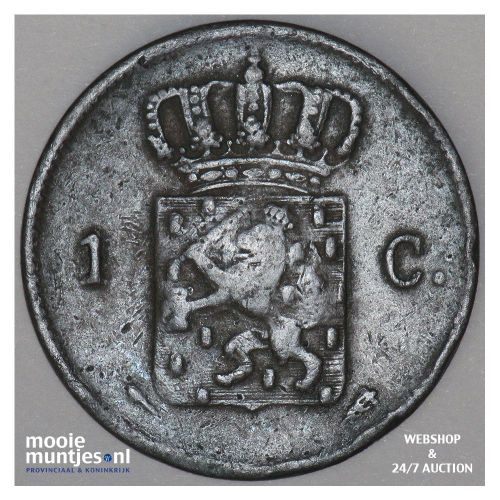 1 cent - Willem I - 1826 Utrecht (kant B)