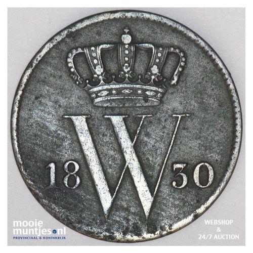 1 cent - Willem I - 1830 Utrecht (kant A)