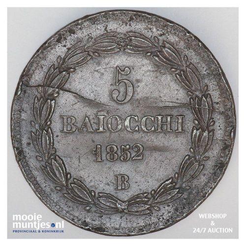 5 baiocchi - Italian States/Papal States 1852 VIIB (KM 1356) (kant A)