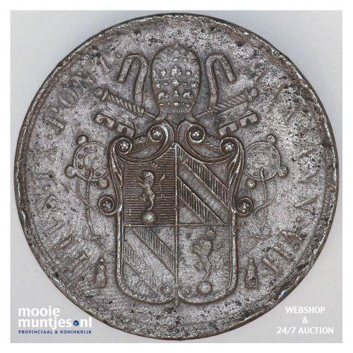 5 baiocchi - Italian States/Papal States 1852 VIIB (KM 1356) (kant B)