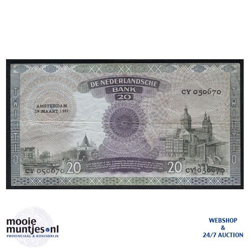 20 gulden - 1939 (Mev. 58-1 / AV 41) (kant B)