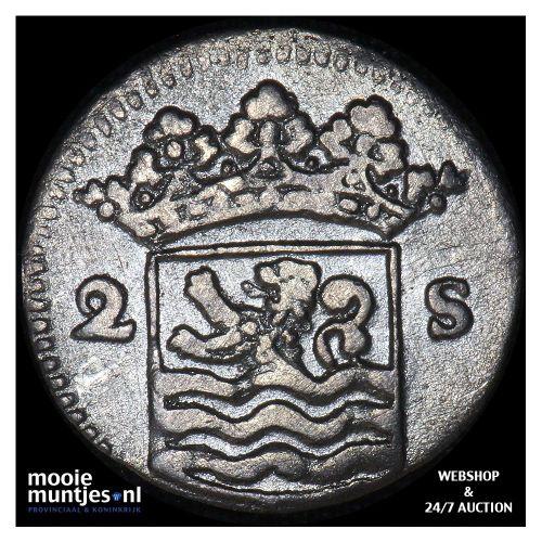 Zeeland - Dubbele wapenstuiver - 1732 over 31 (kant B)